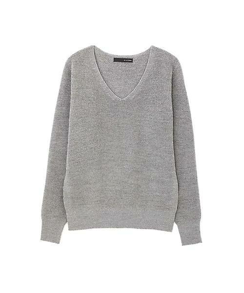 22 OCTOBRE / ヴァンドゥー・オクトーブル ニット・セーター | ◆ラメ混ニット(グレー)