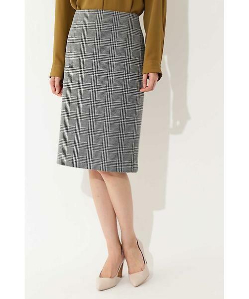 22 OCTOBRE / ヴァンドゥー・オクトーブル スカート | ◆グレンチェックジャカードスカート(グレー)
