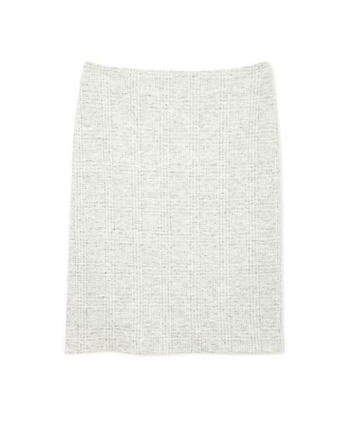 22 OCTOBRE / ヴァンドゥー・オクトーブル スカート | ◆グレンチェックジャカードスカート(ライトグレー1)