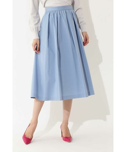 22 OCTOBRE / ヴァンドゥー・オクトーブル スカート | ◆フィッティーフレアスカート(ブルー)