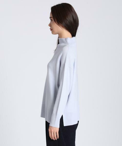 7-IDconcept / セブンアイディーコンセプト ニット・セーター | 《大きいサイズ》カシミヤ混ボトルネックニット | 詳細3