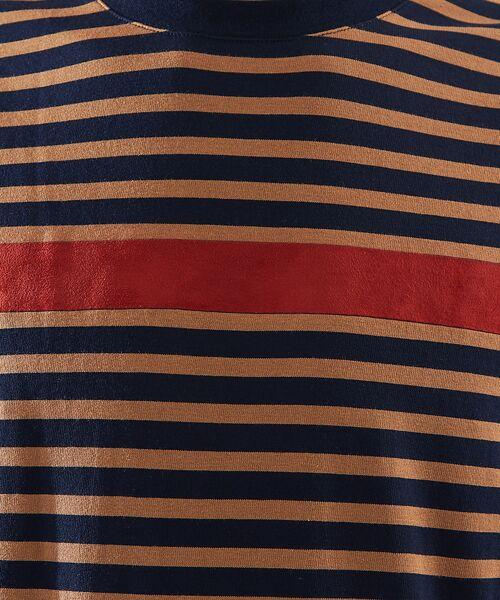 ABAHOUSE / アバハウス Tシャツ | 天竺ボーダースウェード圧着Tシャツ | 詳細10