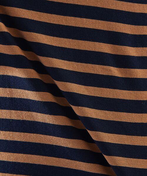 ABAHOUSE / アバハウス Tシャツ | 天竺ボーダースウェード圧着Tシャツ | 詳細11