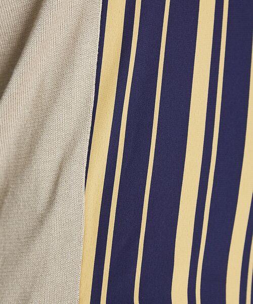 ABAHOUSE / アバハウス ニット・セーター | ストライプニットコンビTシャツ | 詳細1