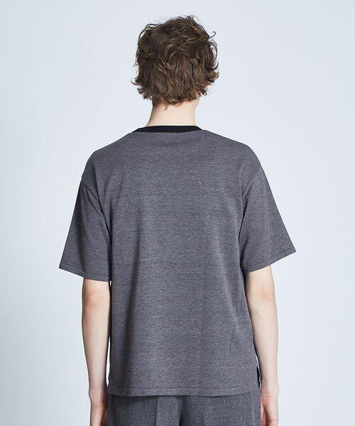 ABAHOUSE / アバハウス ニット・セーター | ストライプニットコンビTシャツ | 詳細6