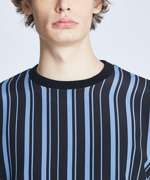 ABAHOUSE / アバハウス ニット・セーター | ストライプニットコンビTシャツ | 詳細7