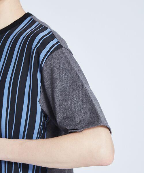 ABAHOUSE / アバハウス ニット・セーター | ストライプニットコンビTシャツ | 詳細8