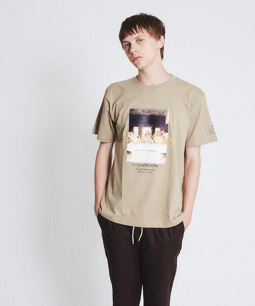 ABAHOUSE / アバハウス Tシャツ | ダヴィンチ The Last Supper Tシャツ(ベージュ)