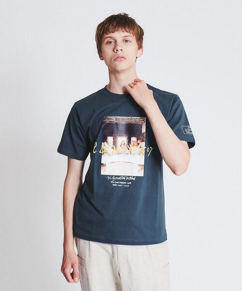 ABAHOUSE / アバハウス Tシャツ | ダヴィンチ The Last Supper Tシャツ【予約】(ネイビー)