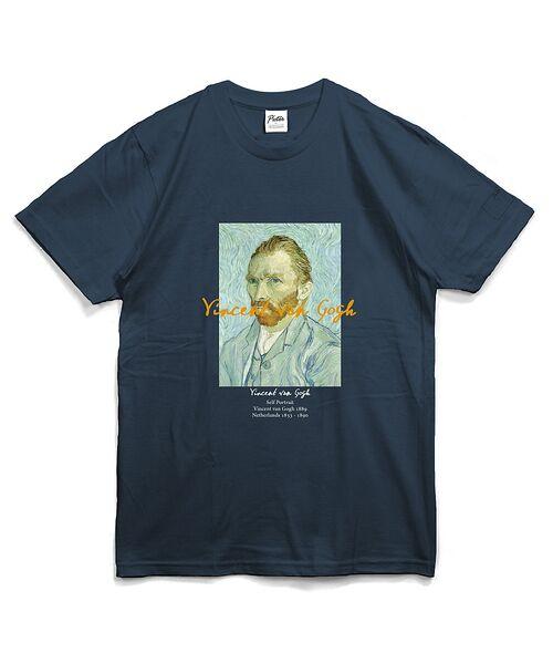 ABAHOUSE / アバハウス Tシャツ | ゴッホ Portrait Tシャツ【予約】(ネイビー)