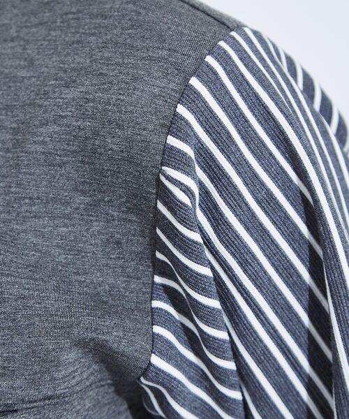 ABAHOUSE / アバハウス Tシャツ | 【WEARISTA とっしーコラボ】袖 ストライプ 切り替え ポンチ ロング T | 詳細9