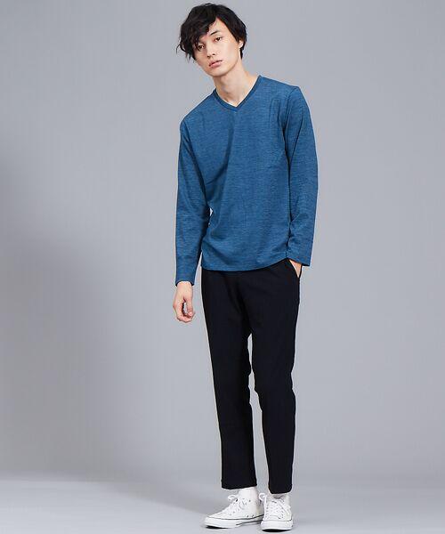 ABAHOUSE / アバハウス Tシャツ | 【展開店舗限定】杢スラブVネックロングTシャツ | 詳細14