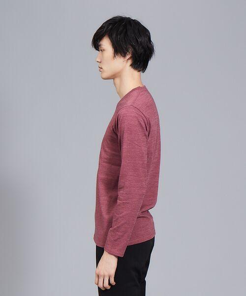 ABAHOUSE / アバハウス Tシャツ | 【展開店舗限定】杢スラブVネックロングTシャツ | 詳細17