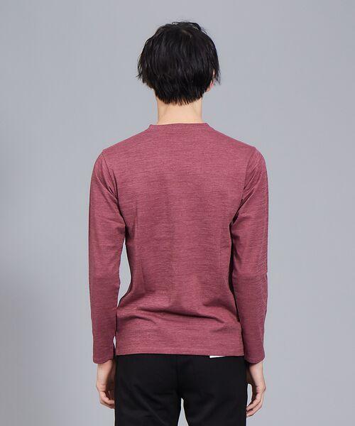 ABAHOUSE / アバハウス Tシャツ | 【展開店舗限定】杢スラブVネックロングTシャツ | 詳細18