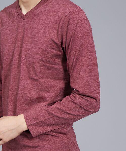 ABAHOUSE / アバハウス Tシャツ | 【展開店舗限定】杢スラブVネックロングTシャツ | 詳細19