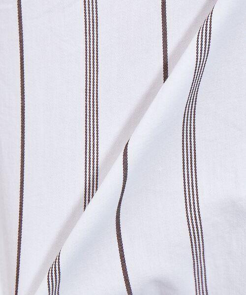 ABAHOUSE / アバハウス シャツ・ブラウス | ストライプ バンドカラー シャツ | 詳細10
