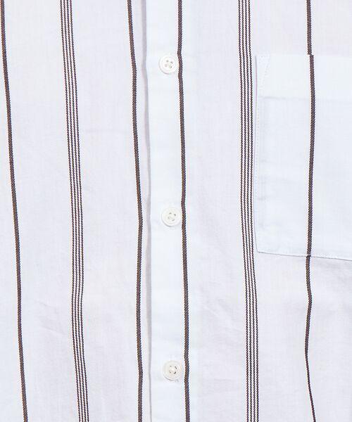 ABAHOUSE / アバハウス シャツ・ブラウス | ストライプ バンドカラー シャツ | 詳細8