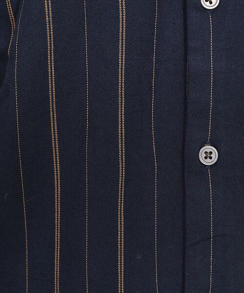 ABAHOUSE / アバハウス シャツ・ブラウス | ストライプ バンドカラー シャツ | 詳細13