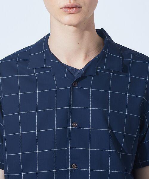 ABAHOUSE / アバハウス シャツ・ブラウス | 【展開店舗限定】チェック/ストライプ柄 オープンカラー 半袖シャツ | 詳細13