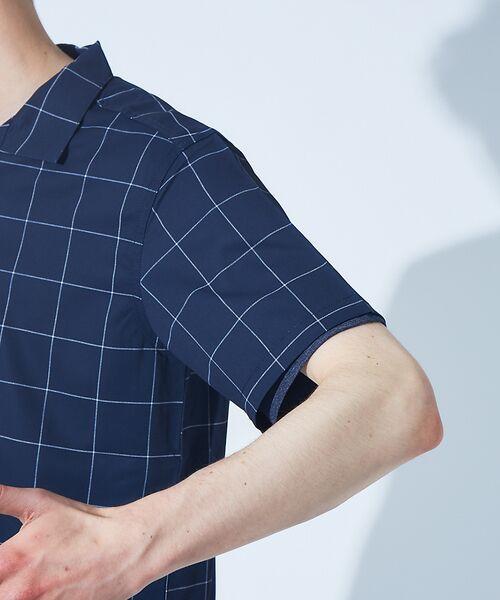 ABAHOUSE / アバハウス シャツ・ブラウス | 【展開店舗限定】チェック/ストライプ柄 オープンカラー 半袖シャツ | 詳細14