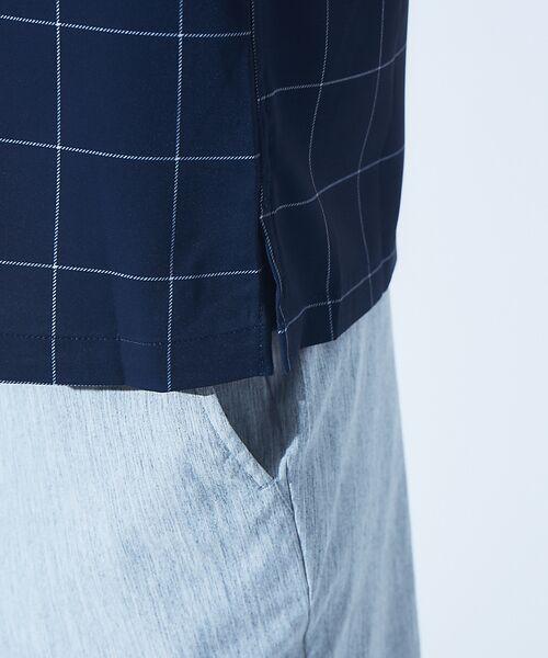 ABAHOUSE / アバハウス シャツ・ブラウス | 【展開店舗限定】チェック/ストライプ柄 オープンカラー 半袖シャツ | 詳細15