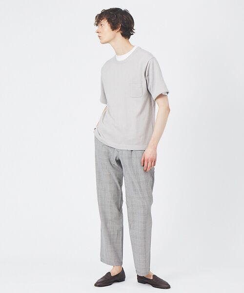 ABAHOUSE / アバハウス Tシャツ | アンサンブル ニット ポケットTシャツ | 詳細1