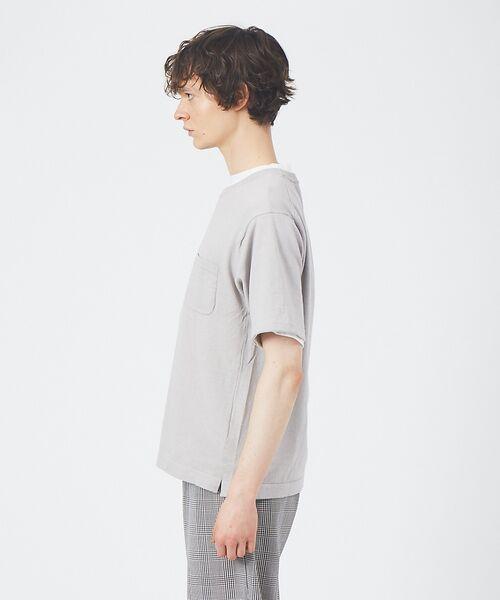 ABAHOUSE / アバハウス Tシャツ   アンサンブル ニット ポケットTシャツ   詳細2