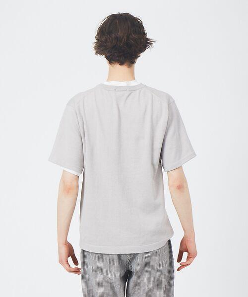 ABAHOUSE / アバハウス Tシャツ | アンサンブル ニット ポケットTシャツ | 詳細3