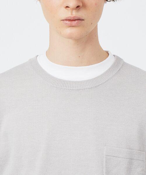 ABAHOUSE / アバハウス Tシャツ | アンサンブル ニット ポケットTシャツ | 詳細4