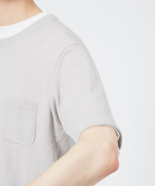 ABAHOUSE / アバハウス Tシャツ | アンサンブル ニット ポケットTシャツ | 詳細5
