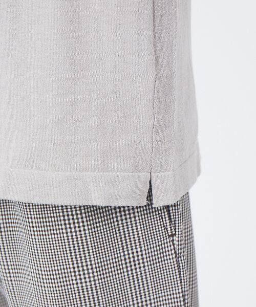 ABAHOUSE / アバハウス Tシャツ | アンサンブル ニット ポケットTシャツ | 詳細6
