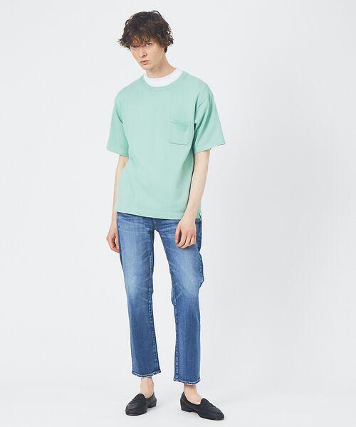 ABAHOUSE / アバハウス Tシャツ | アンサンブル ニット ポケットTシャツ | 詳細9