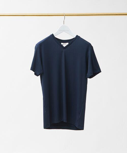ABAHOUSE / アバハウス Tシャツ | MXP FINE DRY Vネック Tシャツ(ネイビー)