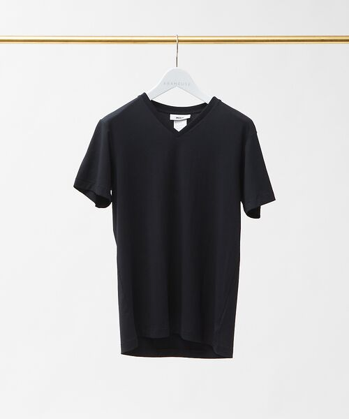 ABAHOUSE / アバハウス Tシャツ | MXP FINE DRY Vネック Tシャツ(ブラック)