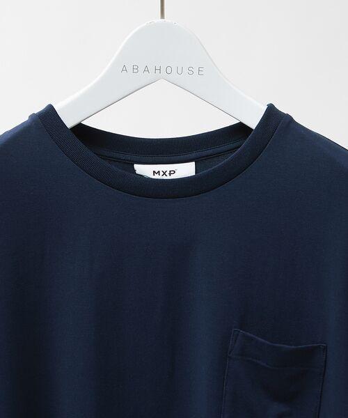 ABAHOUSE / アバハウス Tシャツ   MXP FINE DRY クルーネック ポケTシャツ   詳細4