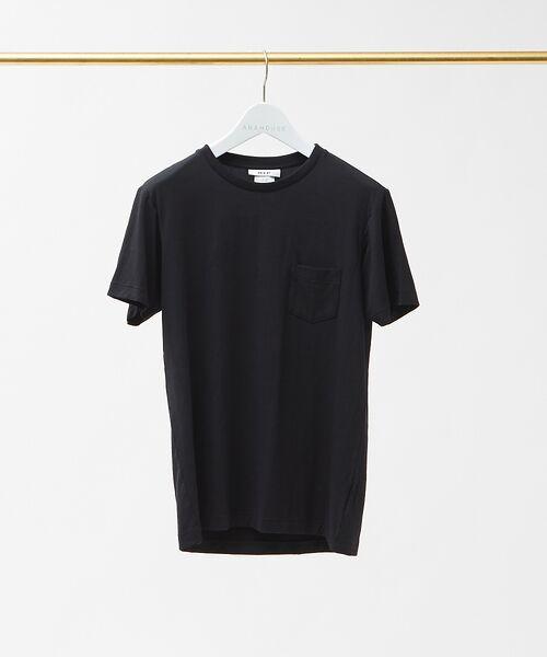 ABAHOUSE / アバハウス Tシャツ   MXP FINE DRY クルーネック ポケTシャツ(ブラック)