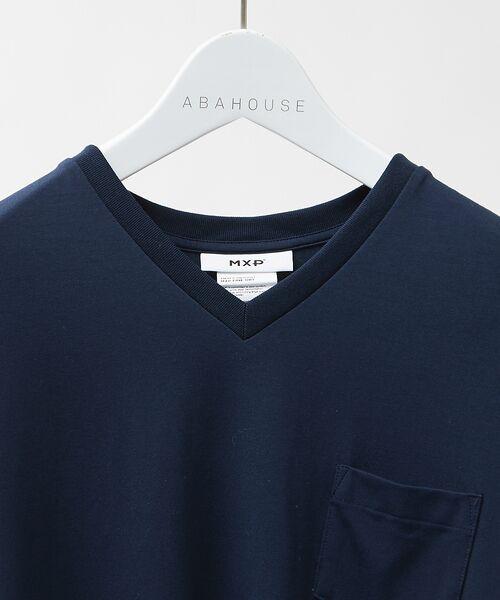 ABAHOUSE / アバハウス Tシャツ | MXP FINE DRY Vネック ポケTシャツ | 詳細3