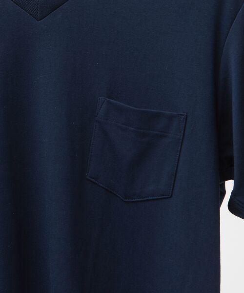 ABAHOUSE / アバハウス Tシャツ | MXP FINE DRY Vネック ポケTシャツ | 詳細4