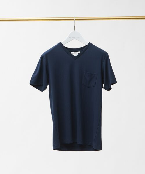 ABAHOUSE / アバハウス Tシャツ | MXP FINE DRY Vネック ポケTシャツ(ネイビー)