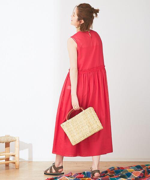 Abahouse Devinette / アバハウス・ドゥヴィネット ワンピース | カラーステッチギャザードレス | 詳細12