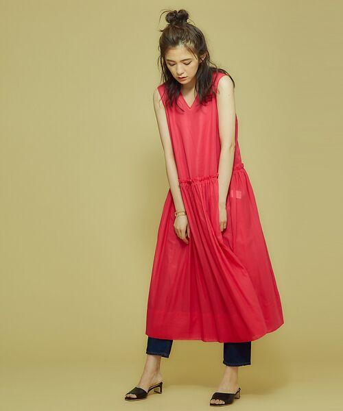 Abahouse Devinette / アバハウス・ドゥヴィネット ワンピース | カラーステッチギャザードレス | 詳細14