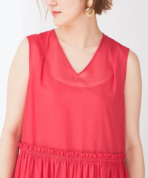 Abahouse Devinette / アバハウス・ドゥヴィネット ワンピース | カラーステッチギャザードレス | 詳細5