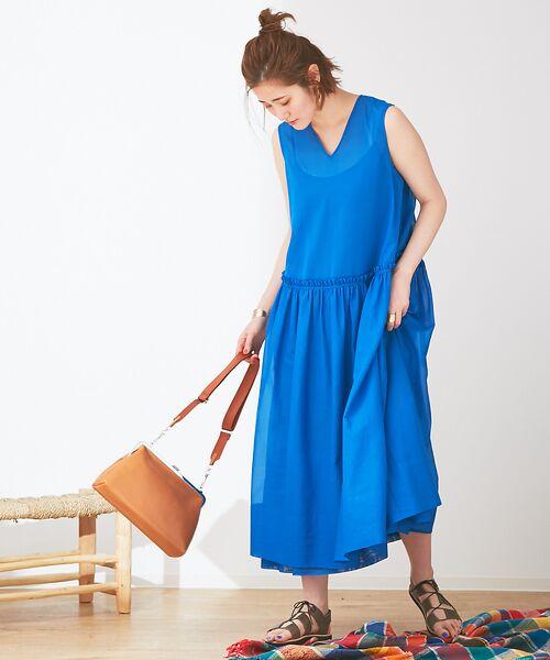 Abahouse Devinette / アバハウス・ドゥヴィネット ワンピース | カラーステッチギャザードレス | 詳細16