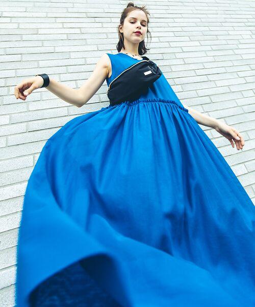 Abahouse Devinette / アバハウス・ドゥヴィネット ワンピース | カラーステッチギャザードレス | 詳細17
