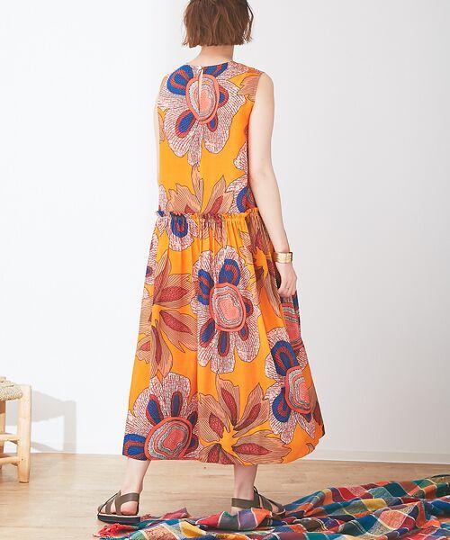 Abahouse Devinette / アバハウス・ドゥヴィネット ワンピース | ビッグフラワープリントギャザードレス | 詳細3