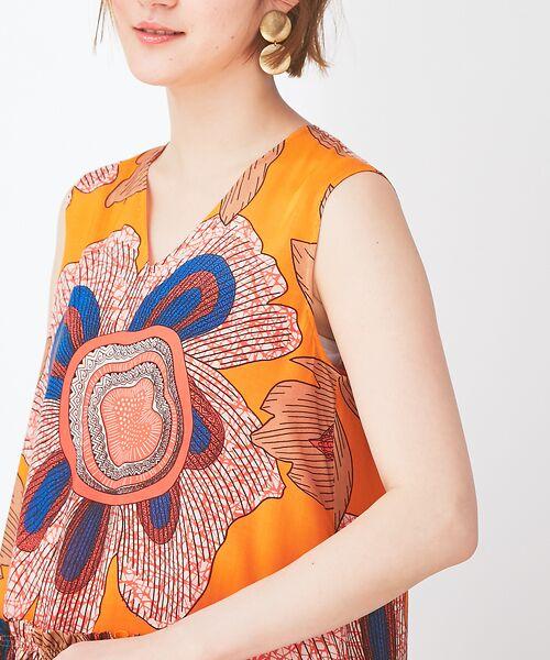 Abahouse Devinette / アバハウス・ドゥヴィネット ワンピース | ビッグフラワープリントギャザードレス | 詳細4