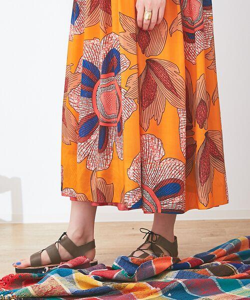 Abahouse Devinette / アバハウス・ドゥヴィネット ワンピース | ビッグフラワープリントギャザードレス | 詳細7