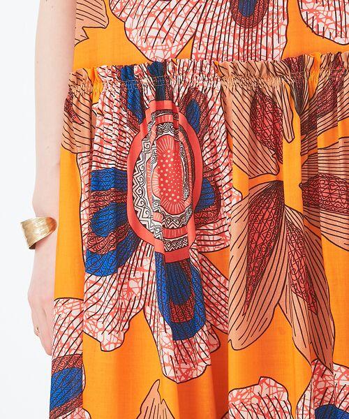Abahouse Devinette / アバハウス・ドゥヴィネット ワンピース | ビッグフラワープリントギャザードレス | 詳細8