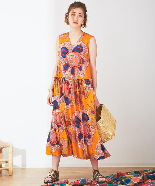 Abahouse Devinette / アバハウス・ドゥヴィネット ワンピース | ビッグフラワープリントギャザードレス | 詳細9