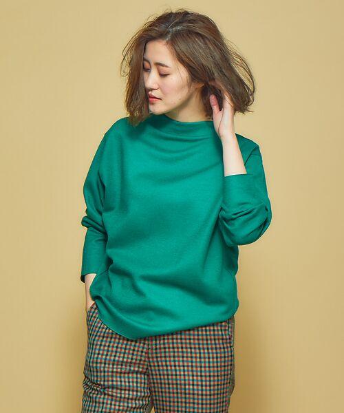 Abahouse Devinette / アバハウス・ドゥヴィネット ニット・セーター | 圧縮ウールプルオーバー(グリーン)